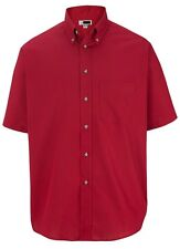 MEN'S WICKING SHORT SLEEVE SHIRT, WRINKLE/STAIN RESISTANT, POCKET S M L XL 2X 3X