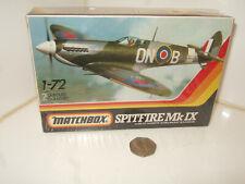 Sealed Matchbox PK-2,  2 Colour Spitfire Mk 1X Model Kit in 1:72 Scale.