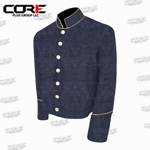 US Civil War CS Multi Color Pipping Trim Cadet Gray Wool Shell Jacket All Sizes!