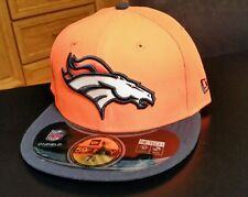 NWT NFL Denver Broncos Fitted New Era 5950 59fifty Hat Cap Size 7 1/4