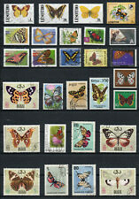 """Lot:  """"vlinders / papillons : butterflies"""" - gestempeld / used stamps"""