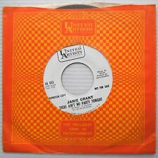 JANIE GRANT I Shouldn't Care 45 bw There Ain't No Party PROMO Teen POP Mod e7512