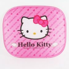 2X CUTE Hello Kitty Pink Heart Car Side Window Sunshade - 2 pcs HIGH QUALITY