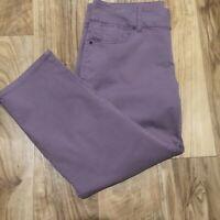 NEW Talbots Signature Fit Cropped Leg Pants Size 12/31 Purple (34.5 x 23.5)