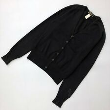 Versace Ladies Black Wool Fitted Knit Cardigan Jumper Sweater Size IT38 US 0 2