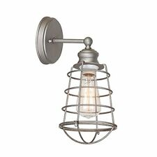 Design House 519702 Ajax 1-Light Bathroom Wall Sconce, Galvanized Finish, New, F