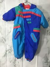 The Cuddle Club Infant Toddler Snow Suit 24m Red Blue Outdoor Winter Clothing
