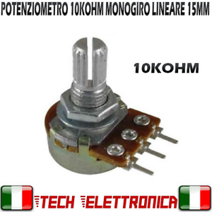 Potenziometro 10K ohm lineare potenziometri monogiro 10kohm