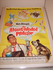 THE ABSENT MINDED PROFESSOR (R1974) AUTHENTIC ORIGINAL 27x41 MOVIE POSTER (468)