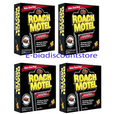 Lot of 8 Black Flag Roach Motel Cockroach Killer Bait Glue Traps 4pack x 2= 8