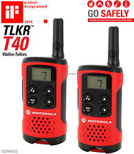 A 4 Km Motorola tlkr T40 2 manera Walkie Talkie Compacto Set PMR 446 Radio Kit - 2 Pack