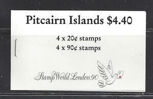 PITCAIRN ISLANDS - 301b & 306b COMP BKLET - MNH -1990 - STAMP WORLD - LONDON 90