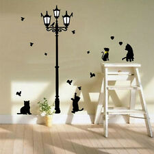 New Cat Animals Wall Sticker For Children Room Walls Decorate Wall Painted Cute