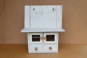 Antique Vintage Wood Medical Box First Aid Chest Kitchen Storage Cupboard 1950's