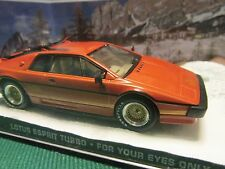 JAMES BOND CARS COLLECTION 008 LOTUS ESPIRIT TURBO FOR YOUR EYES ONLY