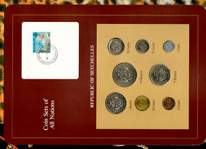 Coin Sets of All Nations Seychelles Maroon 1977 - 1982 UNC 5 cents 1982 10JA83