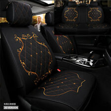 England Embroidery pattern car seat cover breathable linen 5 sits front + rear