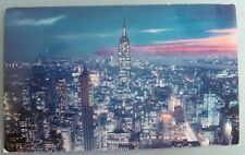 The Empire State Building At Twilight NEW YORK CITY NEW YORK NY Vintage Postcard