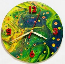 Painting wall clock Living room clock Round wall clock Unusual wall clocks