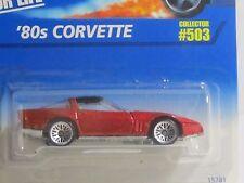 Hot Wheels Htf Metal-flake Red '80's Corvette on Card #503