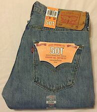 LEVIS 501 Straight Leg Button Fly Jeans - Mens 31 X 34 #0134 Light Stonewash NWT