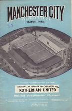 Manchester City v Rotherham United 1964/65 division 2