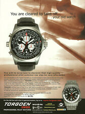 2007 magazine print Ad, TORGOEN Swiss Professional Pilot Watch, Flying 062714