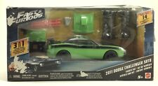 Mattel 1:32 Scale Fast & Furious • 2011 Dodge Challenger 3 In 1 Kit Damaged Pkg