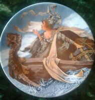 2 Plates, Longton Crown Pottery The Franklin's Tale, Canterbury Tales Plate MINT