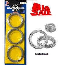Tension Straining Line Wire Galvanised Steel Chain Link Fencing Gauge Pack of 3