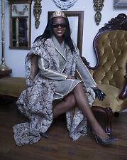 Designer Vtg FENDI  beige houndstooth leather trim Jacket & free Skirt Suit S 40