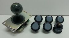 JAPAN Sanwa Clear Smoke Push-Buttons x 6 & Clear Smoke Joystick Video Game Parts