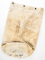 WWII White USN Navy Sea Bag Duffle US Military Cotton Canvas