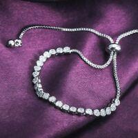 Luxury Women Alloy Adjustable Crystal Wrist Chain Diamond Bracelets Bangles Hot