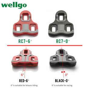 Wellgo Road Bike Pedals Cleats RC7 0°/6° Shoes Cleats Locking Plate Fit LOOK KEO
