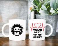Baby Yoda Star Wars Coffee Mug Heart Beat Mug