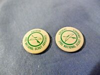"Boy Scouts~1981~National Scout Jamboree ~ Archery 1"" Pin Back ------>"