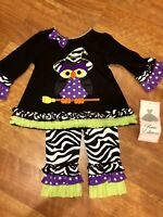 Rare Editions Girls Size 9 Month Infant Halloween Outfit Fall Holiday Owl NWT