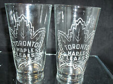 a6a13d8f2f9c TORONTO MAPLE LEAFS RETRO LOGO ETCHED 16 oz PINT GLASSES NEW