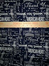 American Heroes by Karen Roti for Clothworks Textiles Navy Blue background - BTY