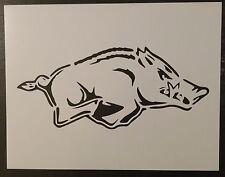 """Arkansas Razorbacks Razor Back Razorback 11"""" x 8.5"""" Stencil FAST FREE SHIPPING"""