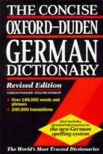 The Concise Oxford-Duden German Dictionary: English-German, German-English by