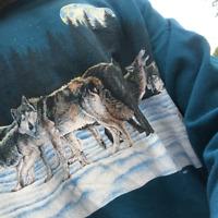Vintage Jumper Wolf pack 1991 Habitat Sweatshirt XL