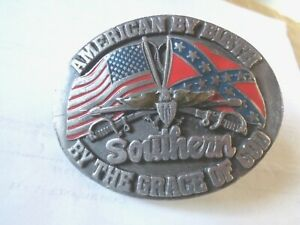 AMERICAN BY BIRTH SOUTHERN  SISKIYOU BUCKLE CO USA BUCKLE 1988