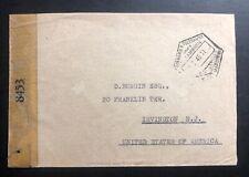 1945 Mozambique Portuguese Africa Censored Cover to Irvington NJ USA