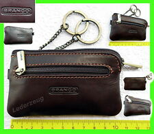 Branco Leder Schlüsseletui Schlüsseltasche Börse braun Autoschlüssel Tasche  NEU