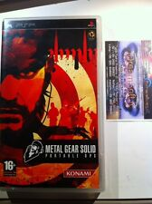 PSP PAL ITA METAL GEAR SOLID PORTABLE OPS PRIMA RELEASE