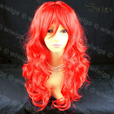 Wiwigs Long Wavy Animation Fire Red Cosplay Theatre Clubbing Ladies Wig