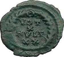 GRATIAN 379AD Authentic Ancient Roman Coin WREATH of success  i36357