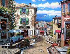 """SAM PARK """"RENDEZVOUS IN NICE"""" Hand Embellished & Signed Giclee on Canvas Limited"""